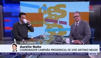 Aurelio Nuño, coordinador de la campaña de Meade, en Despierta con Loret