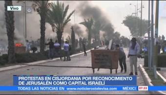 Protestas en Cisjordania por reconocimiento de Jerusalén como capital israelí