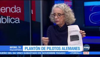 Marta Lamas habla del plantón de pilotos en Alemania