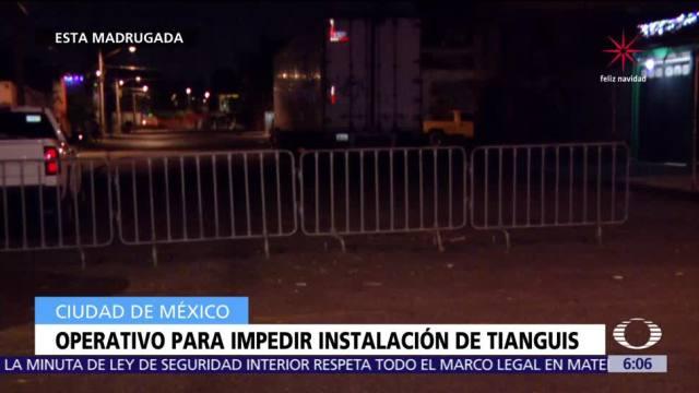 Operativo impide instalar tianguis en Santa Cruz Meyehualco