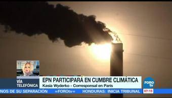 Peña Nieto participará en Cumbre Climática en París