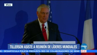 Tillerson asiste a reunión de líderes sobre la crisis en Líbano