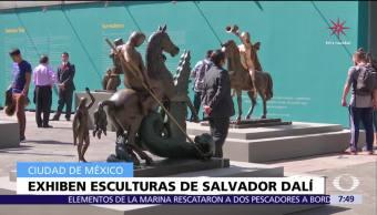 Exhiben 19 esculturas de Salvador Dalí en Templo de San Francisco, CDMX
