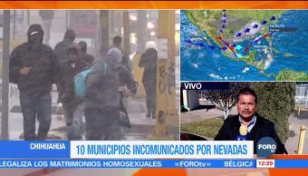 Diez municipios de Chihuahua están incomunicados por las nevadas