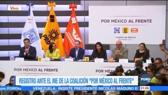 Registran ante el INE la coalición 'Por México al Frente'