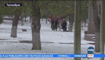 Temperaturas congelantes y caída de nieve en México