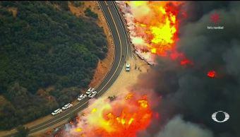 Incontrolables incendios en California Estados Unidos