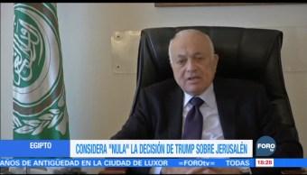 """Egipto considera """"nula"""" la decisión de Trump sobre Jerusalén"""