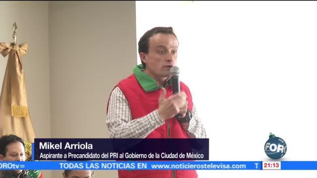 Mikel Arriola comienza actividades para obtener candidatura del PRI a CDMX
