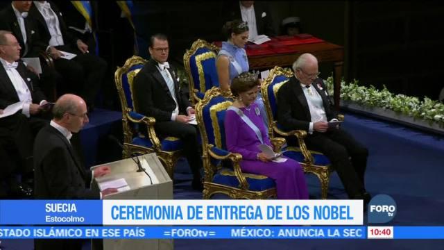 Realizan ceremonia de entrega de los Nobel