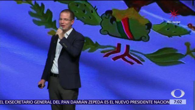 Ricardo Anaya buscará la candidatura de Por México, al frente