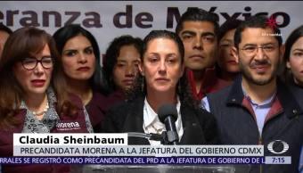 Claudia Sheinbaum alza la mano; busca ser candidata por Morena