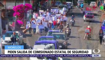 Marchan para exigir destitución de Alberto Capella por enfrentamiento en Temixco