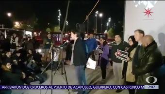 Protestan contra la Ley de Seguridad Interior afuera del Senado