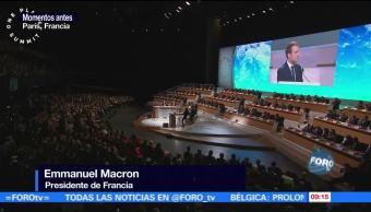 Debemos acelerar el paso contra el calentamiento global: Macron