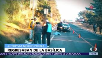 Mueren 11 peregrinos en la México-Puebla