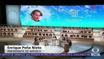 EPN presenta propuestas en la cumbre One Planet