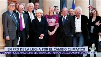Millonarios y filántropos unen esfuerzos contra el calentamiento global