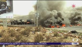 Sigue la violencia entre el ejército israelí y los palestinos