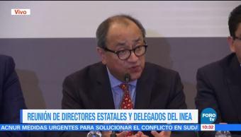Otto Granados participa en reunión de directores estatales y delegados del INEA