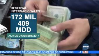 Disminuyen las reservas internacionales, reporta el Banco de México
