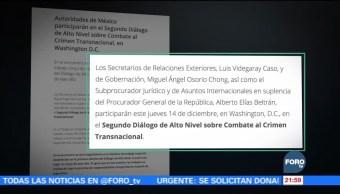 Osorio Chong y Videgaray participarán en dialogo sobre combate al crimen trasnacional