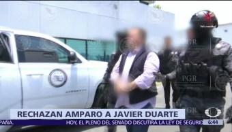 Tribunal federal niega amparo a Javier Duarte por delincuencia organizada