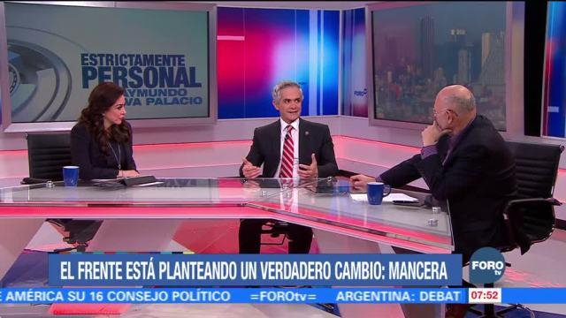 Niega Mancera distanciamiento con 'Por México al Frente'