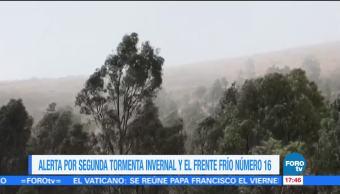 Alerta en México por segunda tormenta invernal