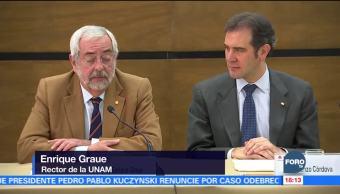 INE y UNAM firman convenio para monitorear radio y tv