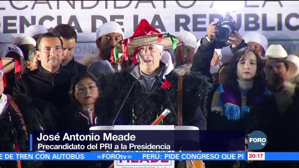 José Antonio Meade inicia precampaña en Chiapas