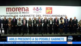AMLO presenta a su posible gabinete