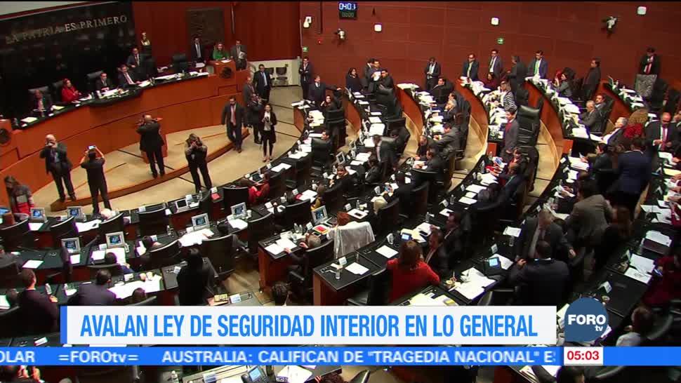 Senado aprueba, en lo general, la Ley de Seguridad Interior