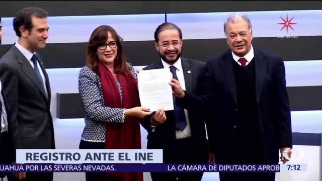 Morena, PT y Encuentro Social registran coalición ante el INE
