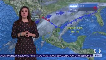 Clima Al Aire: Nevadas de hasta 20 cm en Chihuahua y Durango
