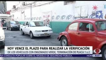 Hoy vence plazo para verificar autos con engomado verde en CDMX
