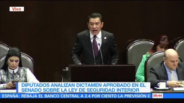 Cámara de Diputados analiza modificaciones al dictamen de Ley de Seguridad Interior