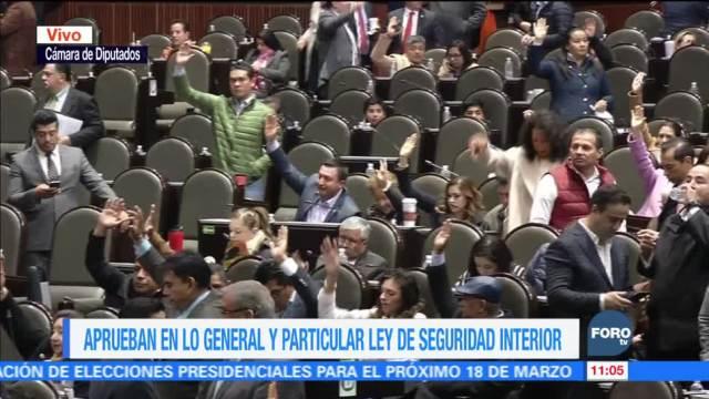 Cámara de Diputados aprueba Ley de Seguridad Interior