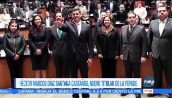 Héctor Marcos Díaz-Santana rinde protesta como nuevo titular de la Fepade