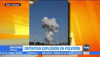 Reportan explosión de polvorín en Jilotepec, Edomex