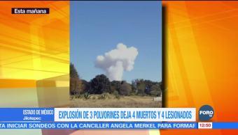 Explotan 3 polvorines en Jilotepec, Estado de México; hay 4 muertos