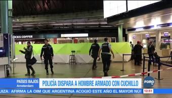 Desalojan aeropuerto de Ámsterdam por hombre armado con cuchillo