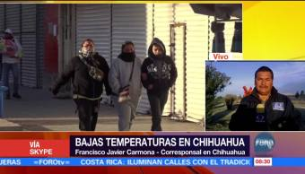 Chihuahua registra bajas temperaturas por tormenta invernal