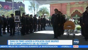 Despiden con honores a policía caído en cumplimiento de su deber