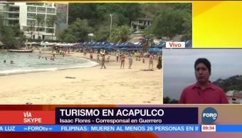 Gran clima se registra en Acapulco