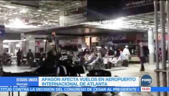 Apagón en Atlanta afecta vuelos en aeropuerto internacional