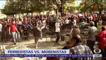 López Obrador pide no caer en provocaciones, tras riña de morenistas