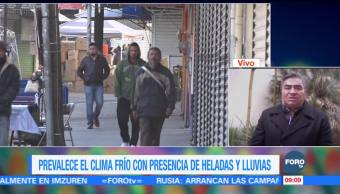 Prevalece el clima frío con presencia de heladas y lluvias en Coahuila
