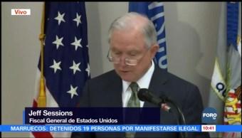 Sessions: El problema son los delincuentes