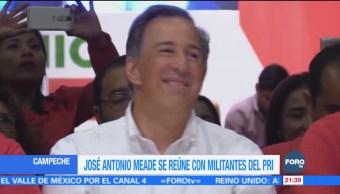 José Antonio Meade se reúne con militantes del PRI en Campeche